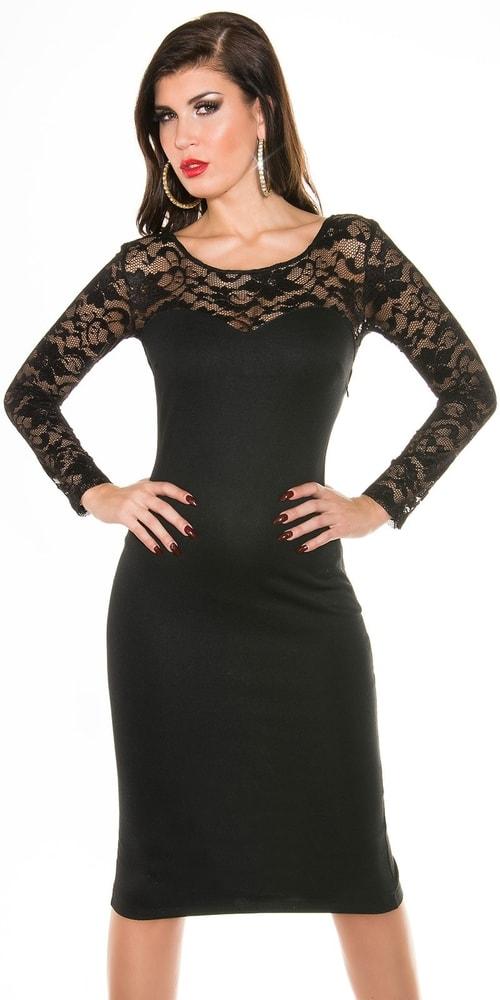Spoločenské dámske šaty s čipkou - 38 Koucla in-sat1061bl