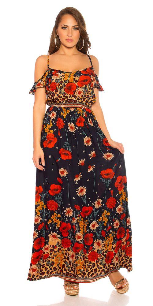 Dlouhé květované šaty - M/L Koucla in-sat2187tm