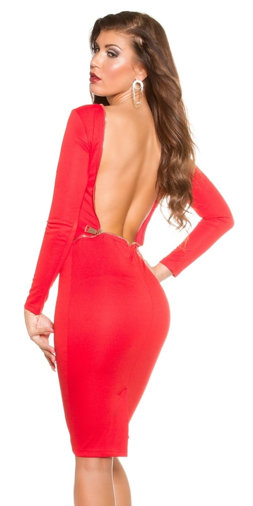 Červené spoločenské šaty Koucla in-sat1279re