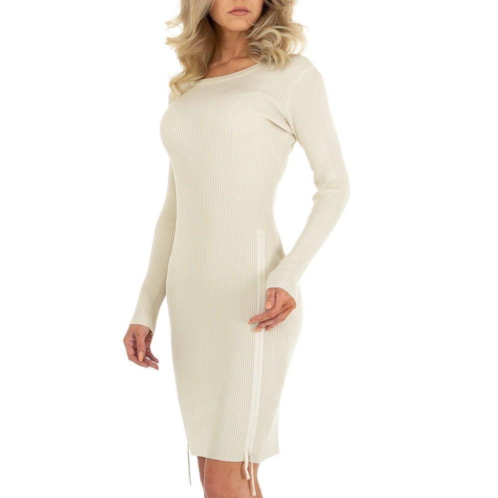 Dámské šaty z úpletu - 6 Stück in beige Size: M/L, S/M shd-sat1327be