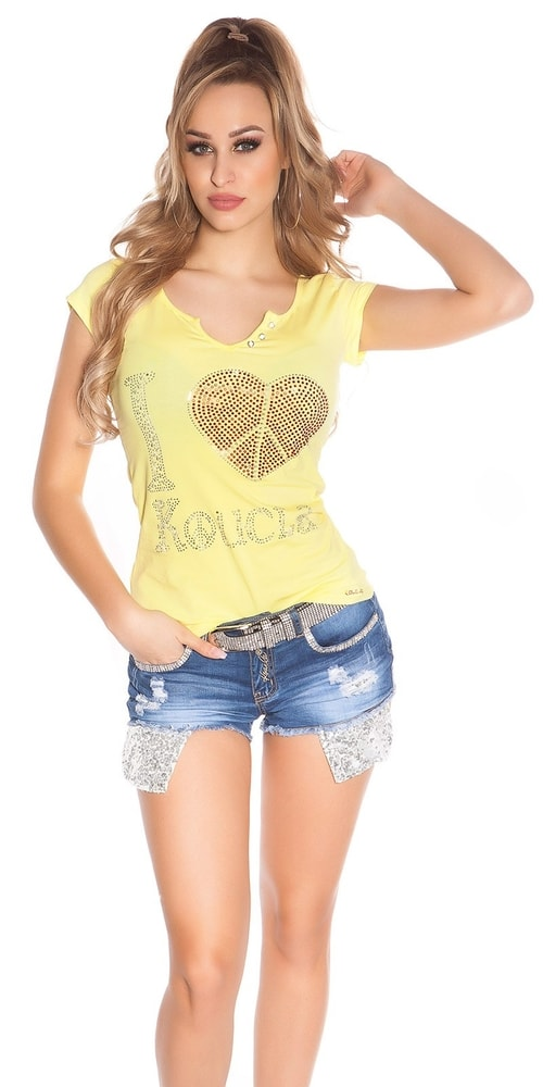 Žlté dámske tričko - S/M Koucla in-tr1146ge