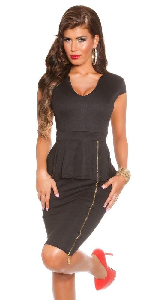Čierne spoločenské šaty - 34 Koucla in-sat1251bl