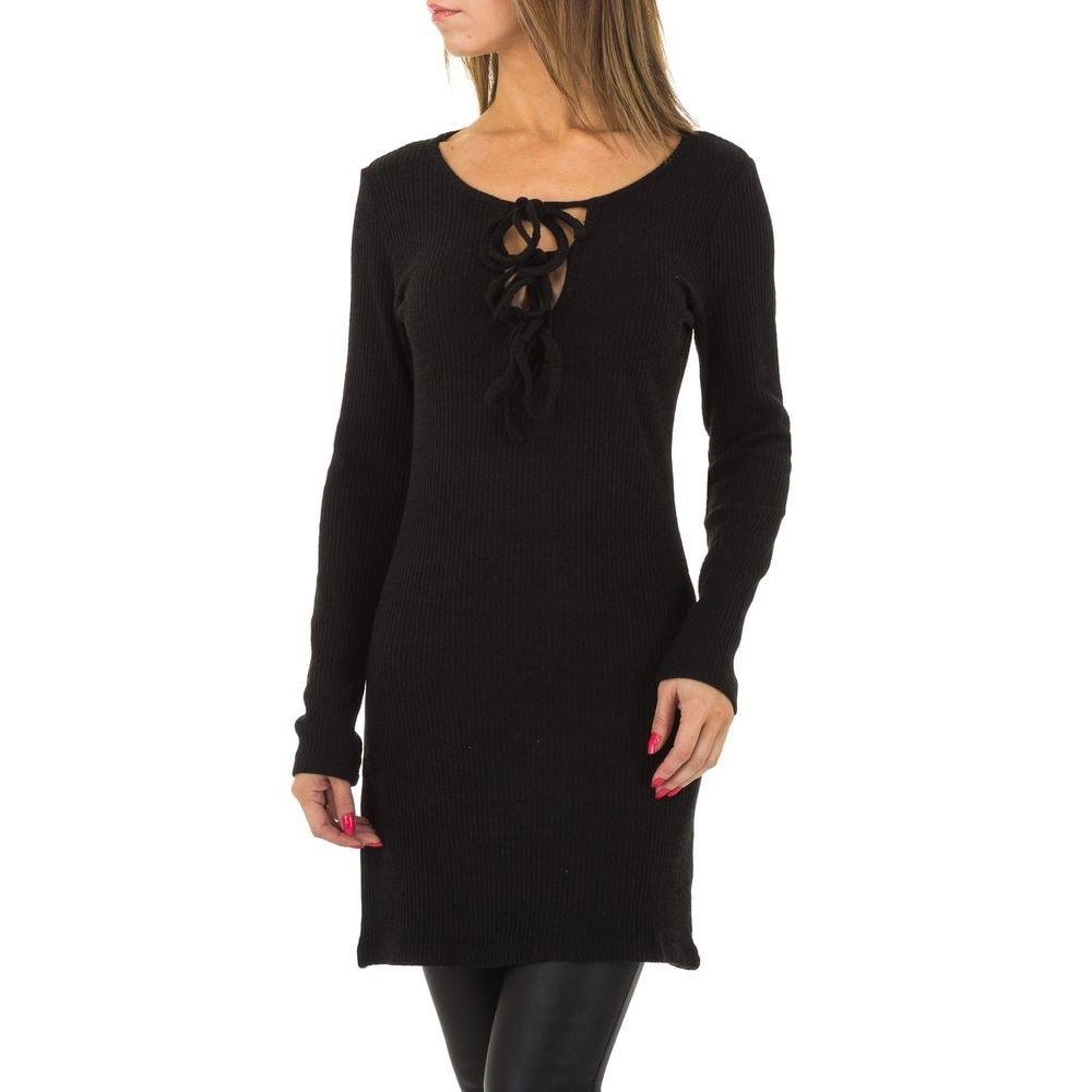Pletené dámske šaty - S/M EU shd-sat1069bl