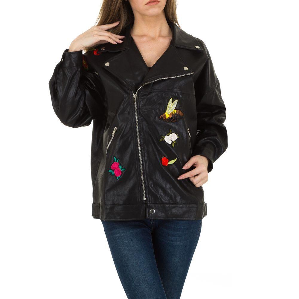 Koženková bunda s výšivkami - M/38 EU shd-bu1112