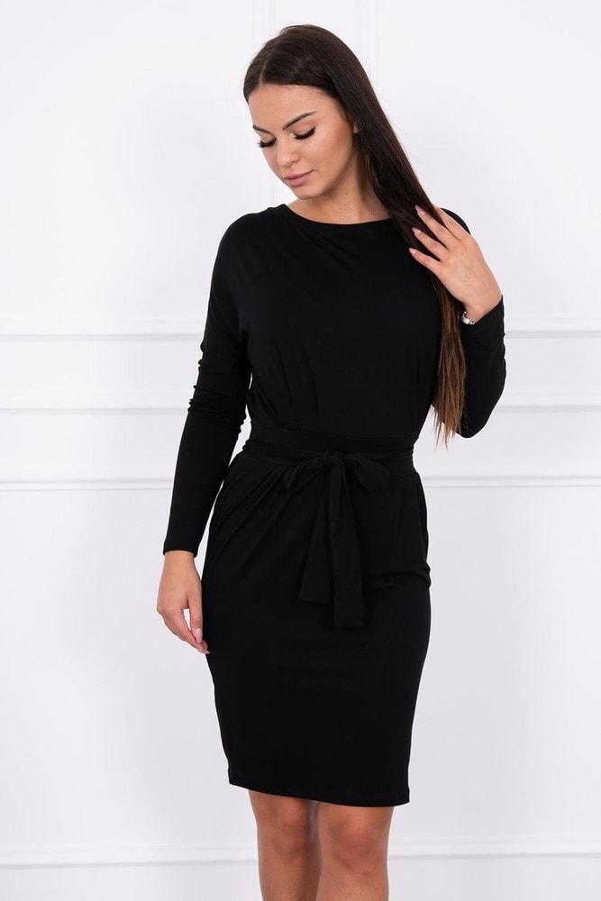 Čierne dámske šaty - L Kesi ks-sa8926bl