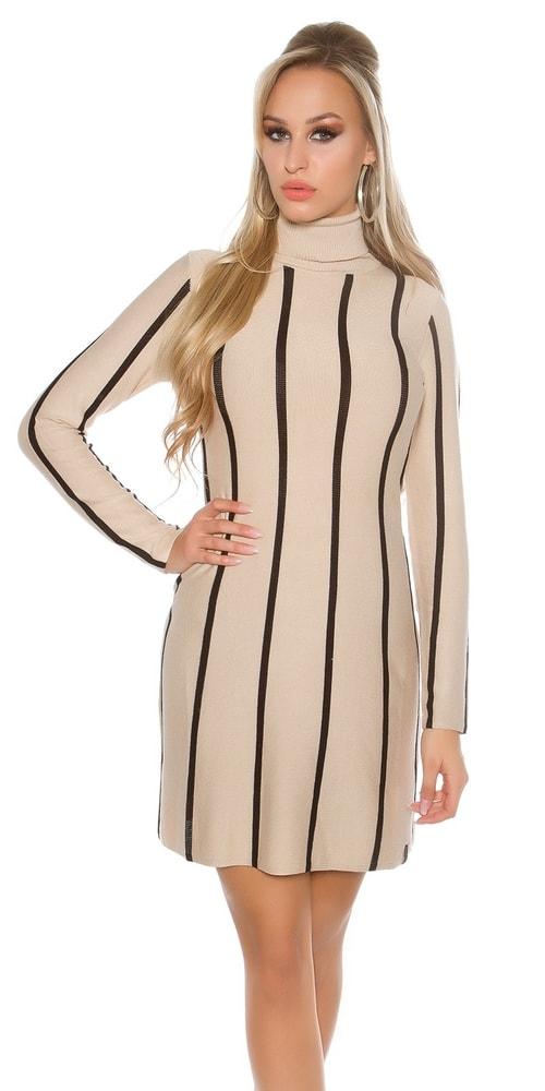 Dámske úpletové šaty - S/M Koucla in-sat1450be