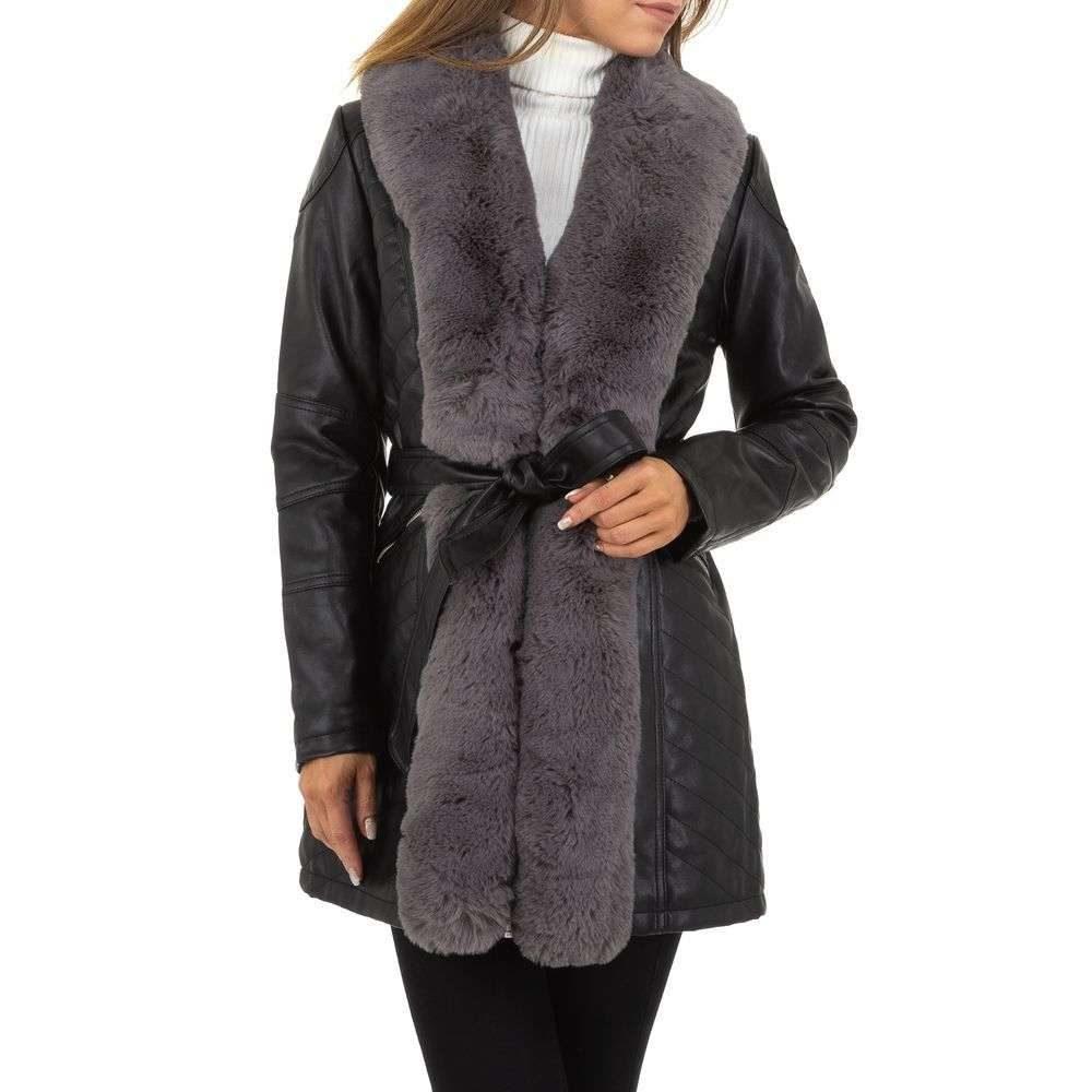 Zimný kabát z koženky - M/38 EU shd-bu1172gr