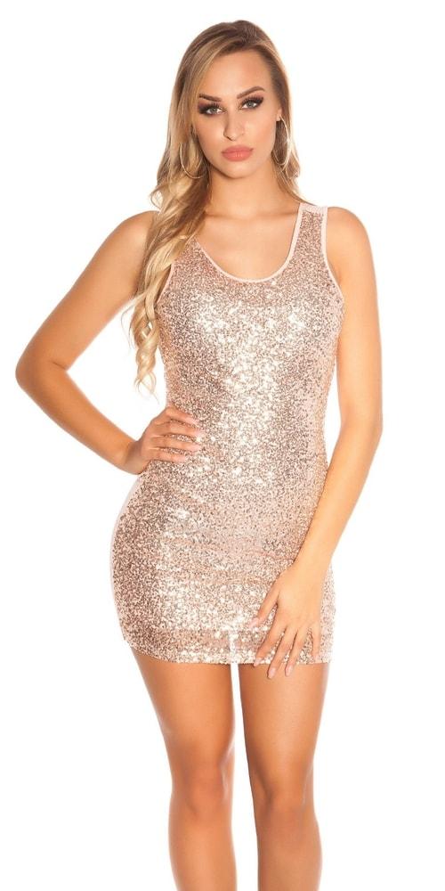 Party mini šaty s flitrami - S/M Koucla in-sat1624spi