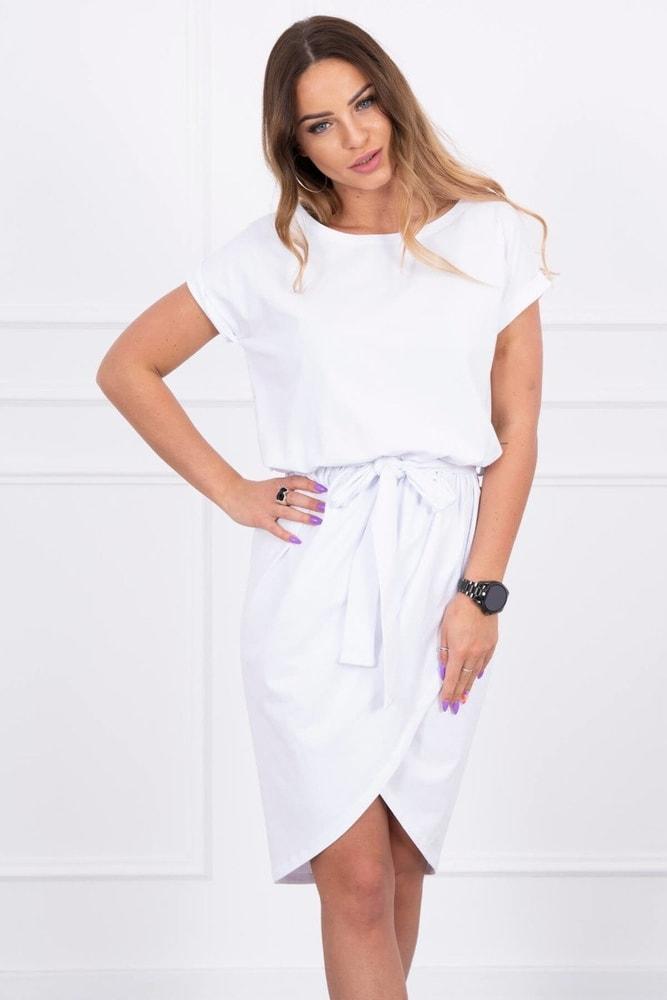 Dámske biele šaty Kesi ks-sa8980wh