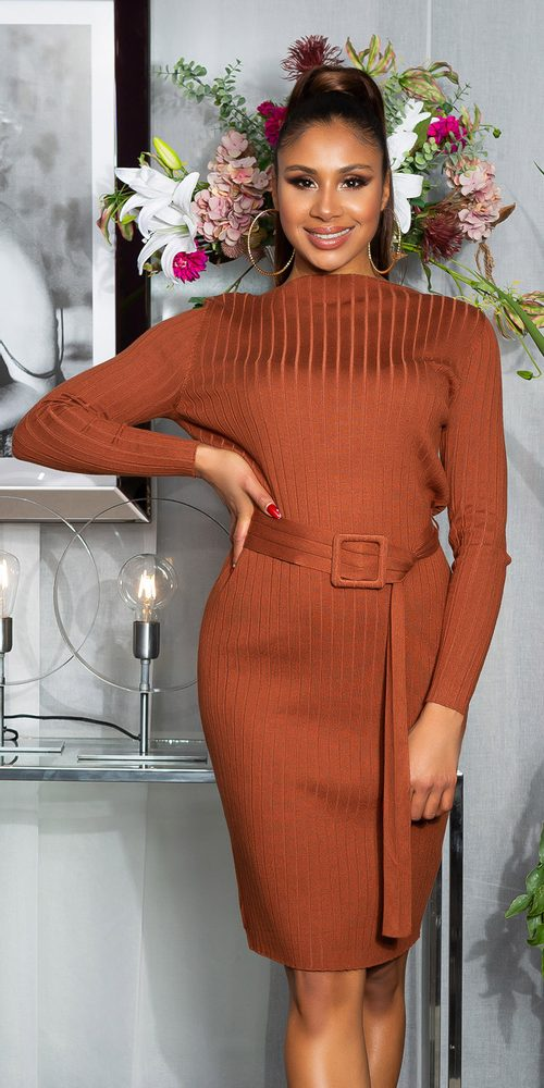 Dámské úpletové šaty Koucla in-sat2264hn