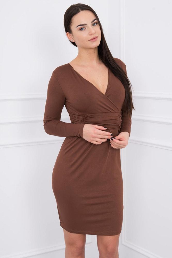 Dámske šaty s dlhými rukávmi - S Kesi ks-sa8318hn