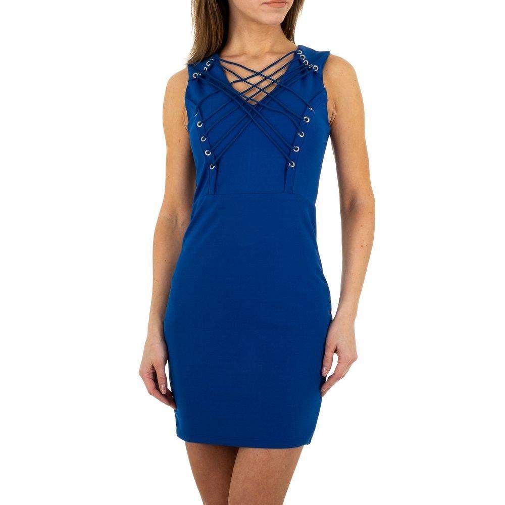 Dámske modré mini šaty EU shd-sat1083mo