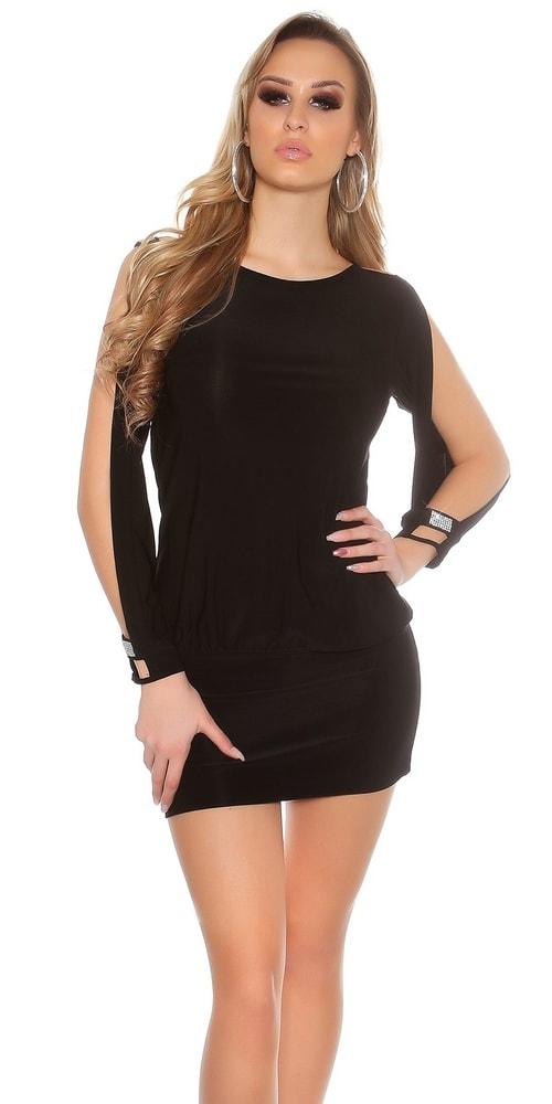 Čierne sexi párty šaty - S/M Koucla in-sat1446bl