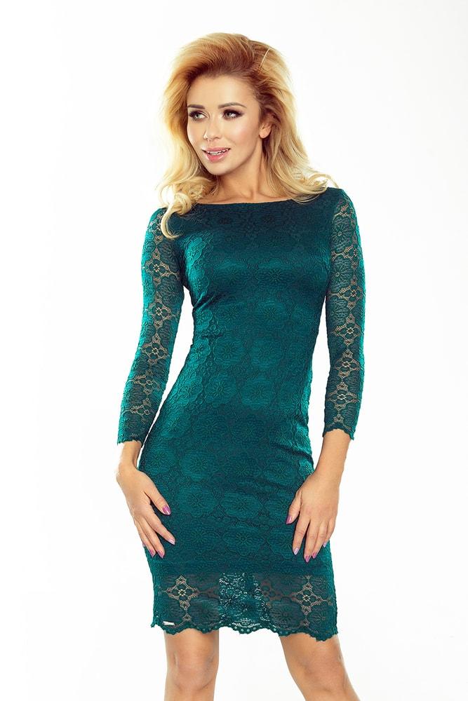 Čipkované dámske šaty 180-2 - L Numoco nm-sat180ze