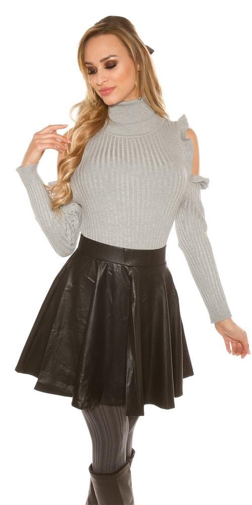 Čierna dámska sukňa Koucla in-su1168bl