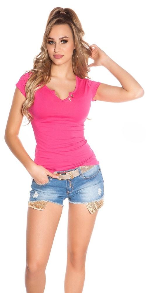 Dámske tričko ružové Koucla in-tr1145tpi
