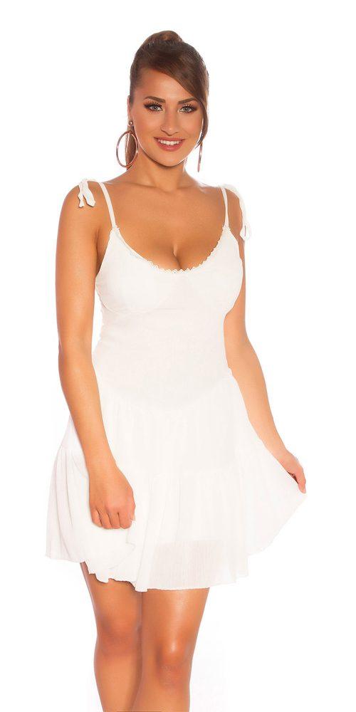 Letní šaty na ramínka - S/M Koucla in-sat2203wh