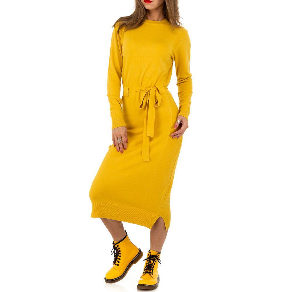Dlouhé šaty z úpletu EU shd-sat1238ye