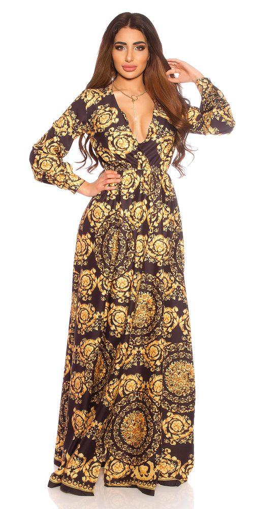 Dlouhé vzorované šaty Koucla in-sat2172bl