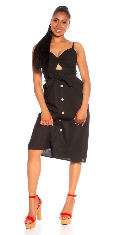 Černé letní šaty - M/L Koucla in-sat2195bl