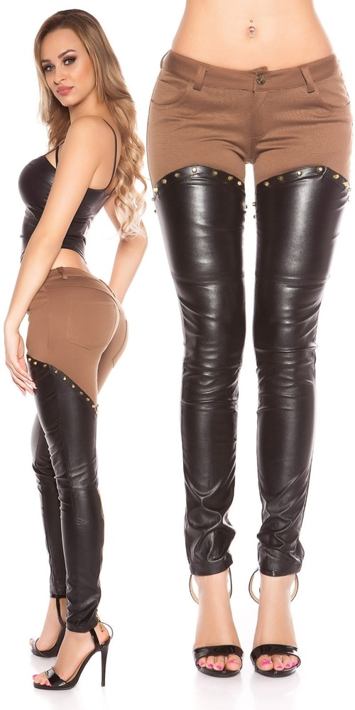 Dámske nohavice s koženkou Koucla in-ka1173ca