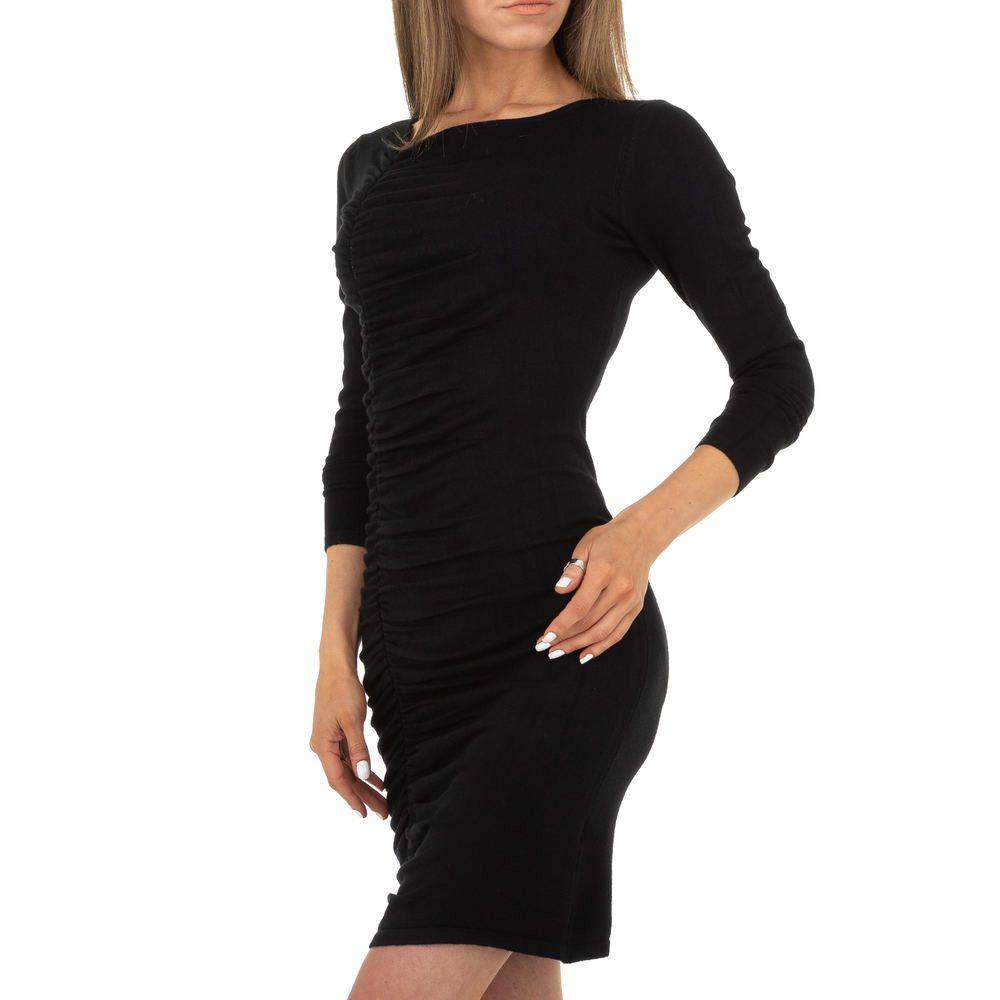 Úpletové mini šaty EU shd-sat1262bl