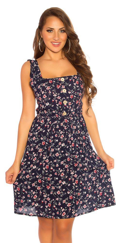 Letní květované šaty Koucla in-sat2188tm