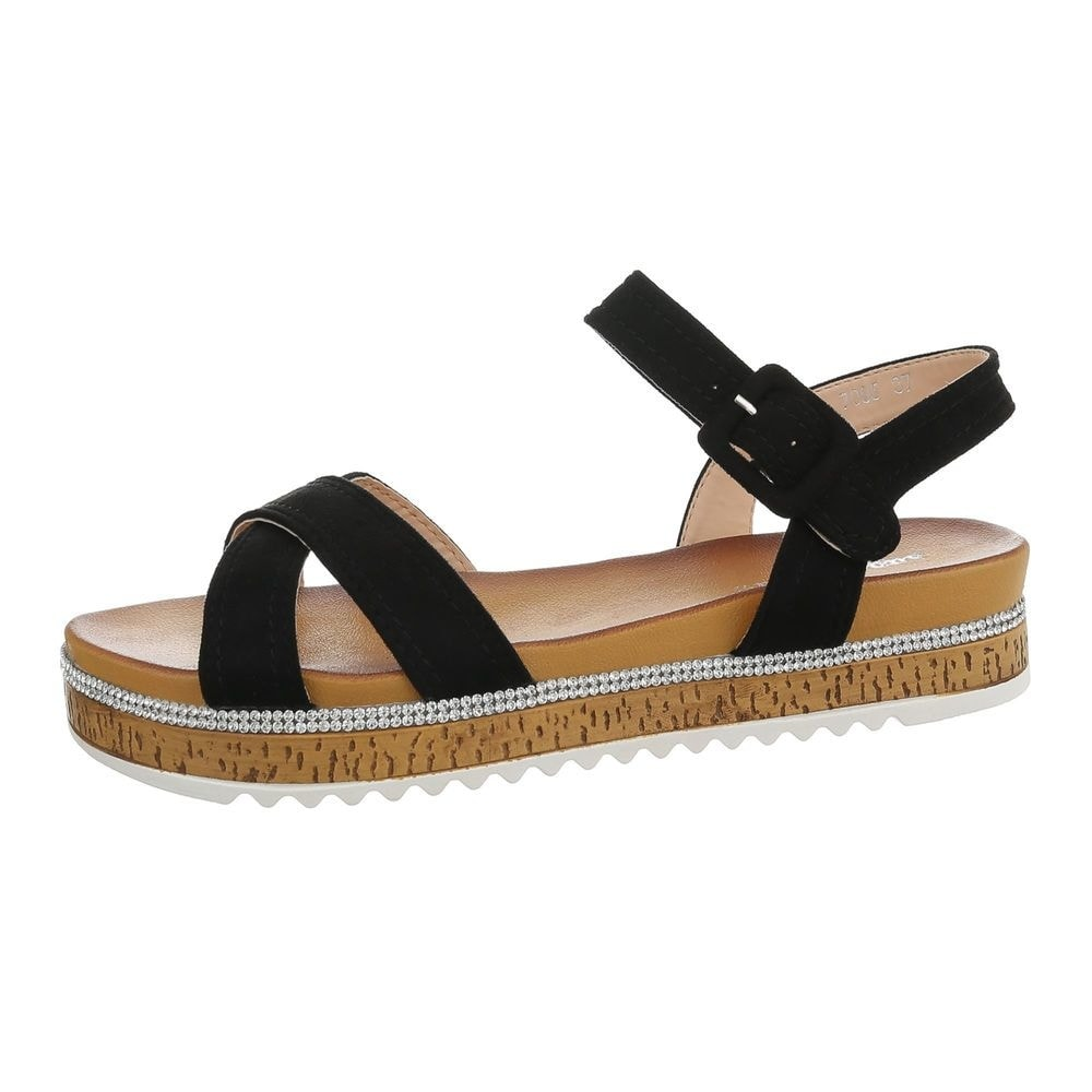 Čierne letné sandále - 39 EU shd-osa1338bl