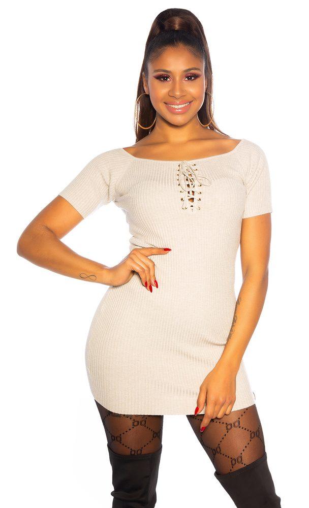 Dámske mini šaty z úpletu Koucla in-sat1708be