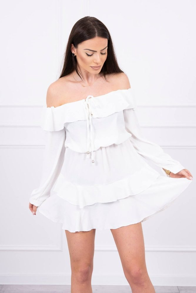 Mini šaty s volány - S/M Kesi ks-sa9044cr