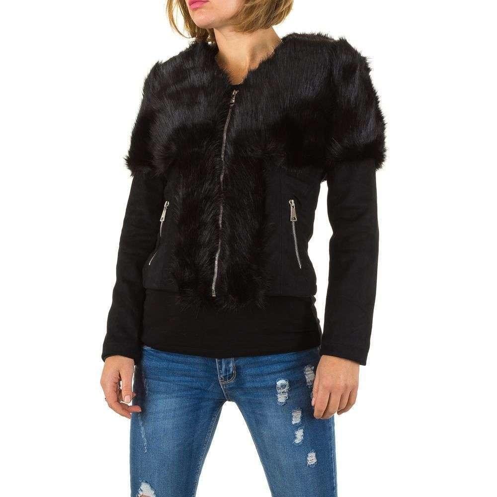 Čierna koženková bunda EU shd-bu1033bl
