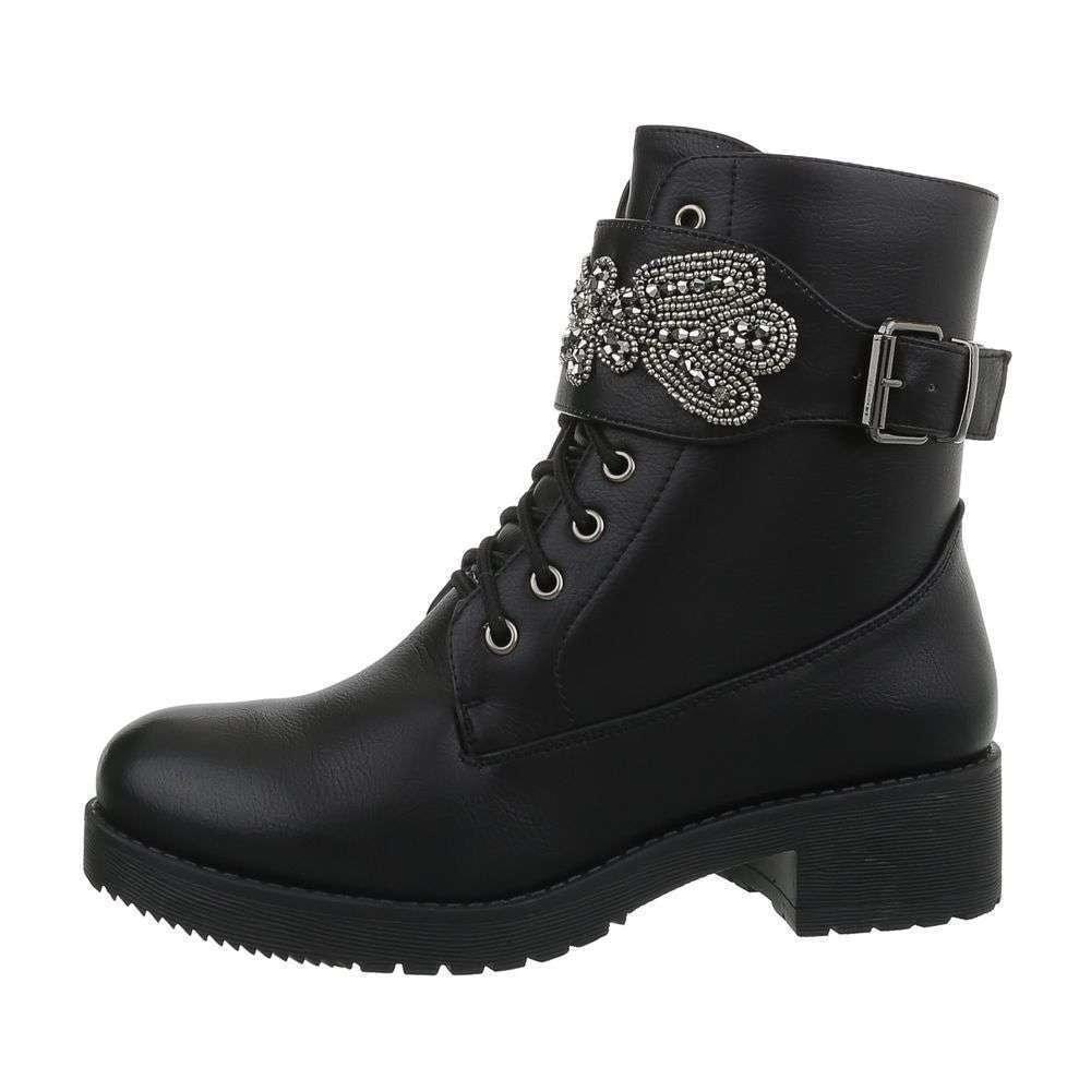 Čierne členkové topánky - 38 EU shd-okk1159bl