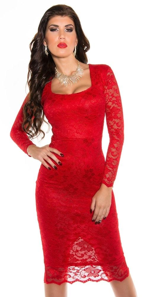 Červené večerné šaty - 38 Koucla in-sat1004re