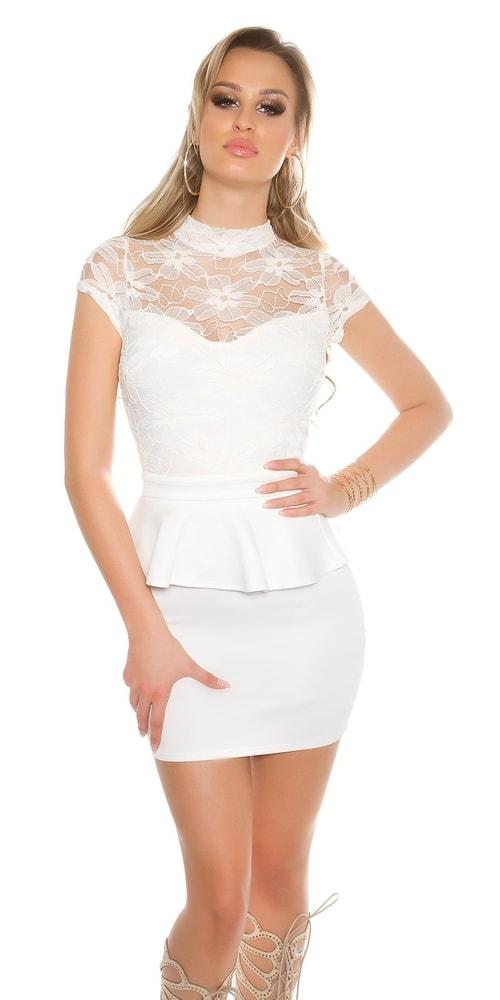 Dámske mini šaty s čipkou Koucla in-sat1537wh