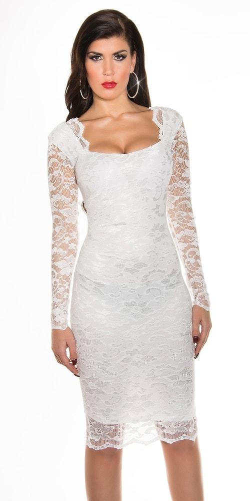 Dámske večerné šaty - biele - 42 Koucla in-sat1009wh