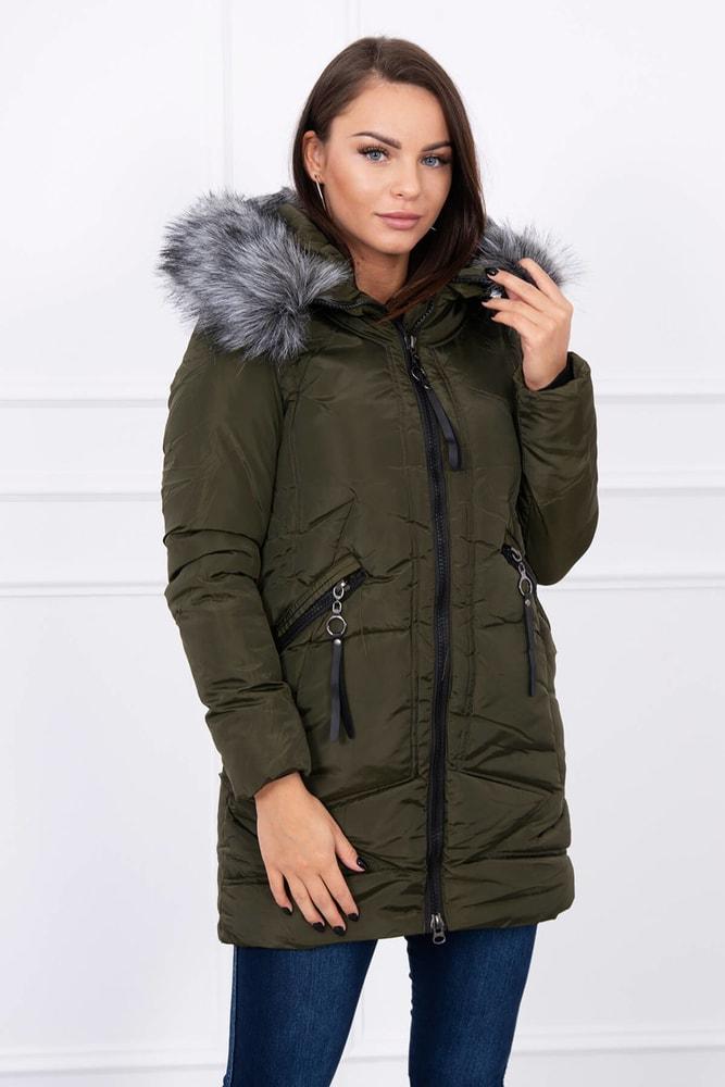 Dámska bunda s kapucňou - XXL Kesi ks-buA02kh