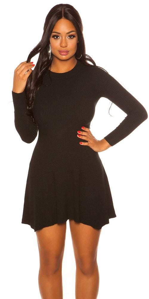 Úpletové mini šaty Koucla in-sat2077bl