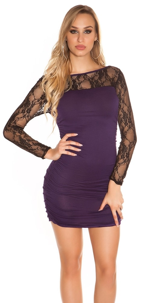 Dámske mini šaty s čipkou Koucla in-sat1059li