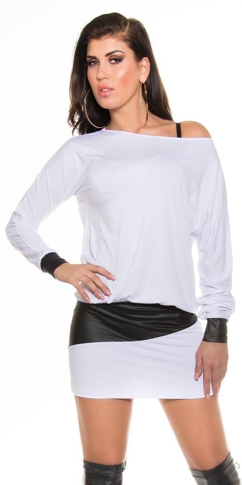 Trendy dámske mini šaty Koucla in-ha1051wh