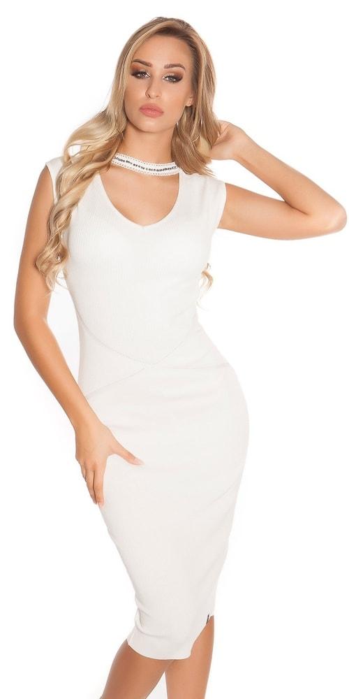 Dámské šaty z úpletu - S/M Koucla in-sat1581wh
