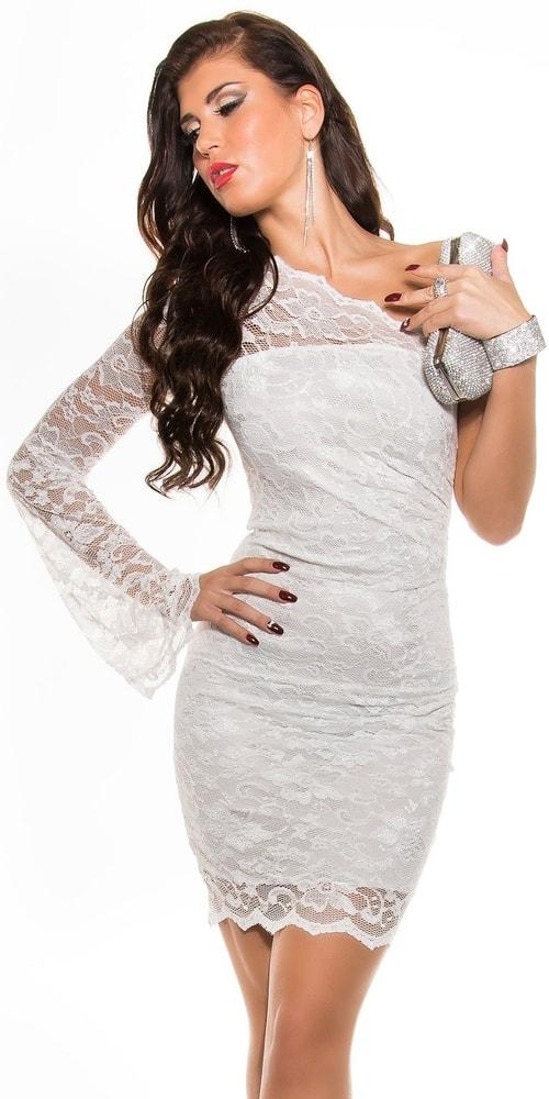 Biele čipkované šaty - 42 Koucla in-sat1187wh