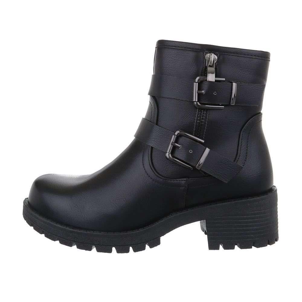 Čierne členkové topánky - 37 EU shd-okk1367bl