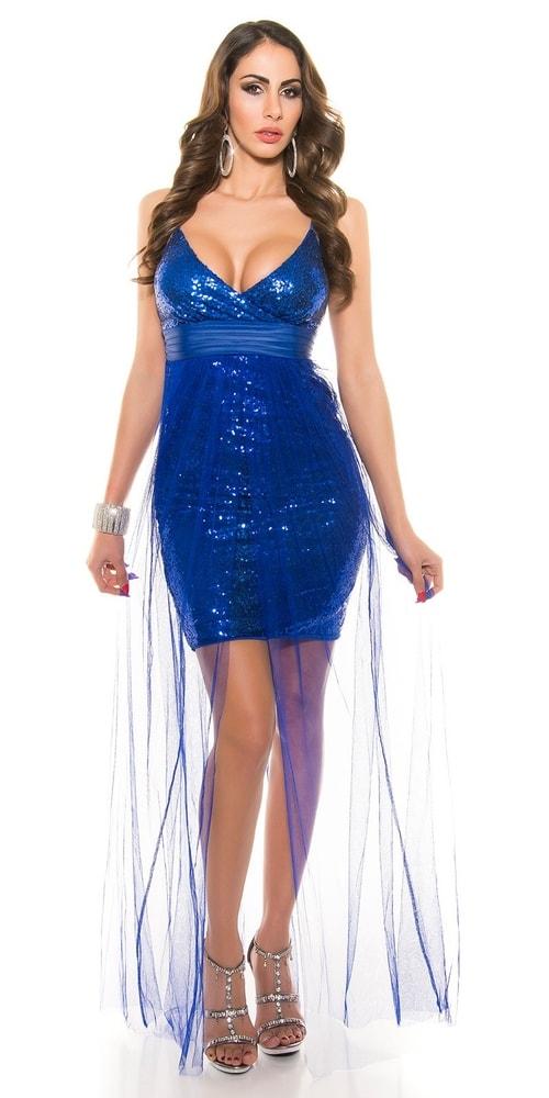 Koktejlové šaty modré - 38 Koucla in-sat1223mo