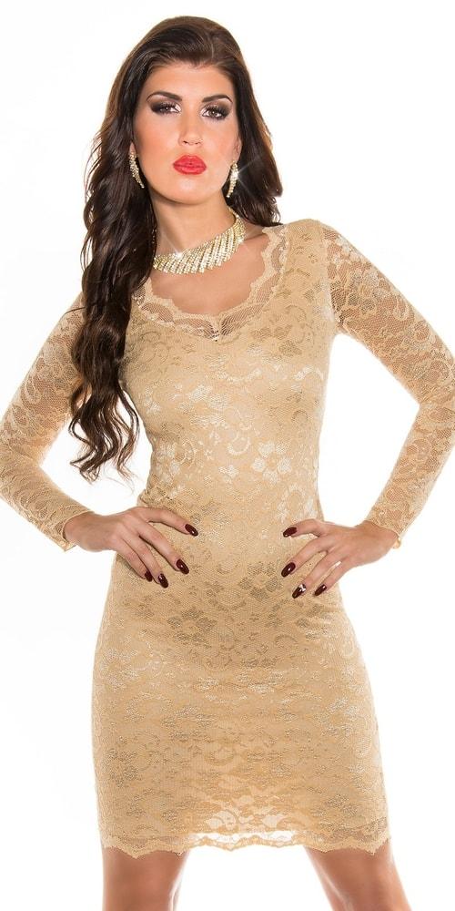 Dámske čipkované šaty - 42 Koucla in-sat1742cha