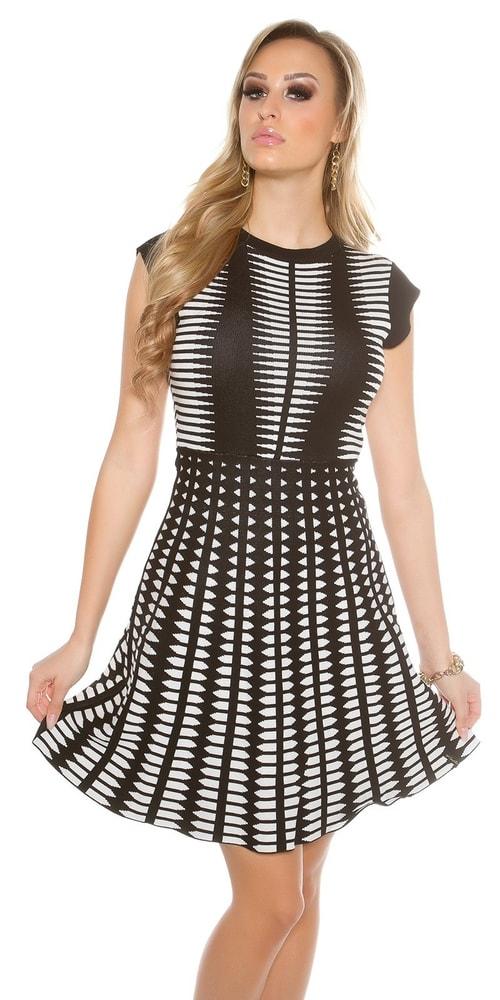 Úpletové dámske šaty Koucla in-sat1298wh