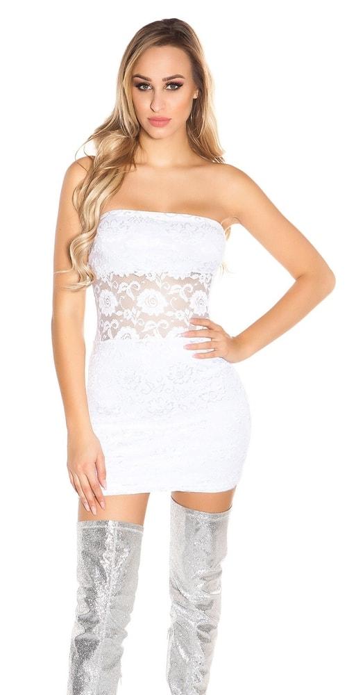 Dámske čipkované šaty Koucla in-sat1729wh