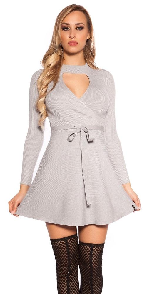 Úpletové mini šaty Koucla in-sat1689gr