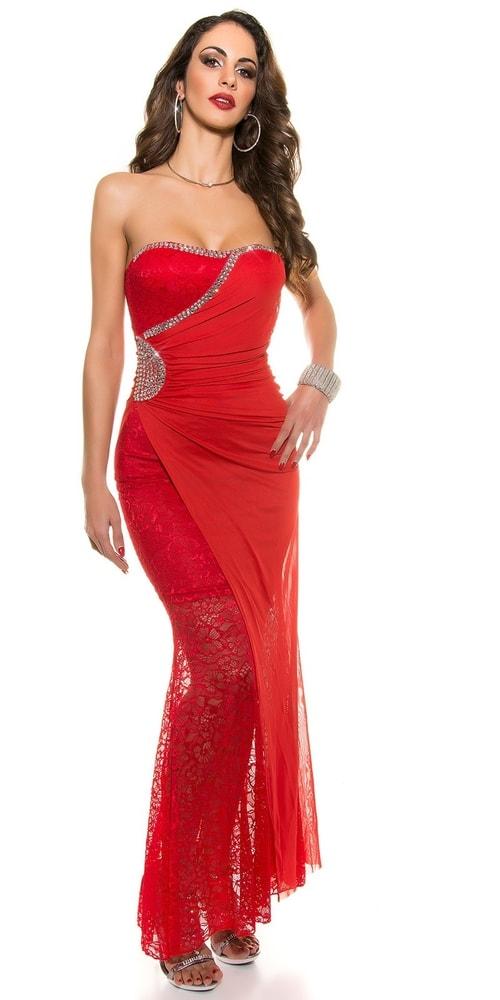 Červené plesové šaty - L Koucla in-sat1046re
