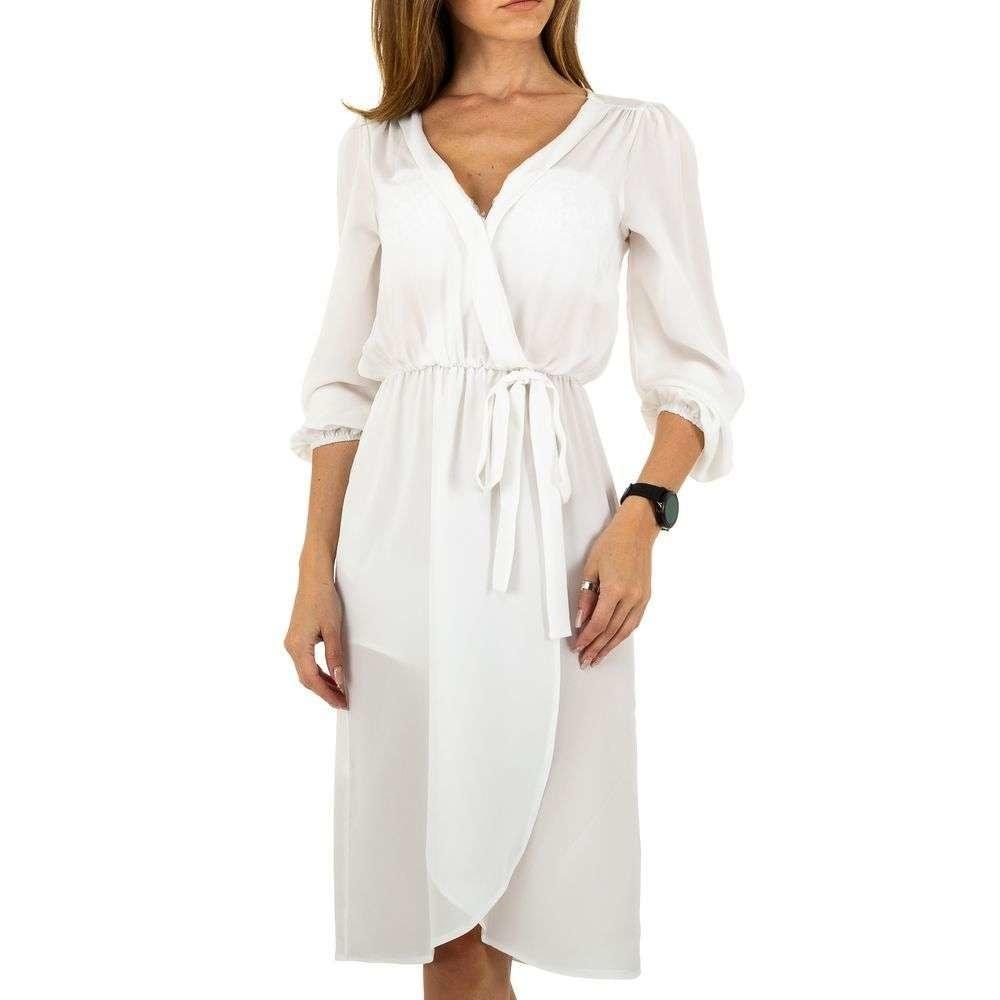 Bílé dámské šaty EU shd-sat1112wh