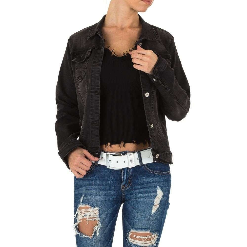 Džínsová čierna bunda - XL EU shd-bu1130bl